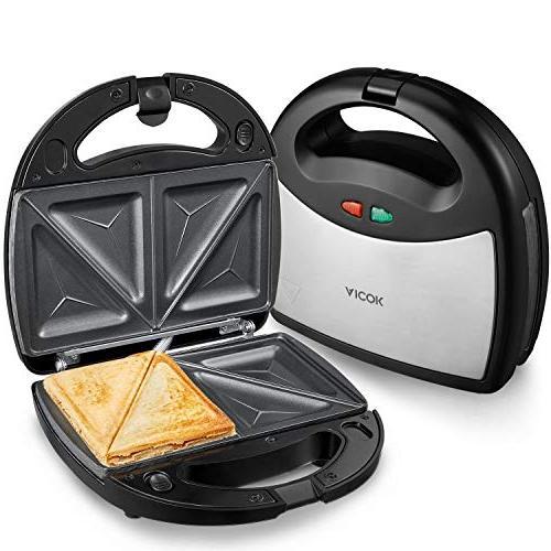 Aicok Sandwich maker, 3-in-1 Detachable LED