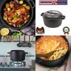 Westinghouse Seasoned Cast Iron 5 Quart Dutch Oven with Skil