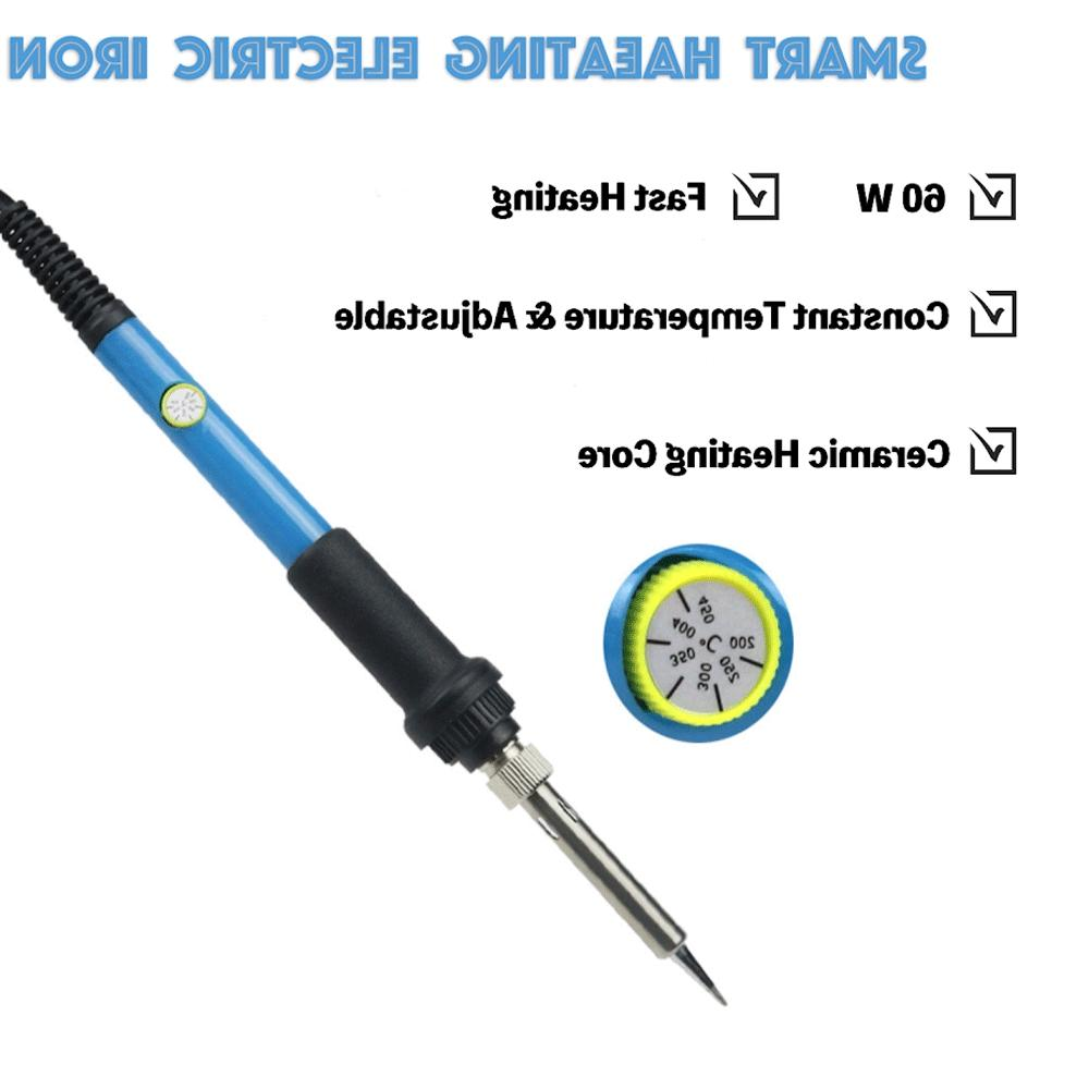 Soldering Iron Adjustable Temperature 60W Solder Kit