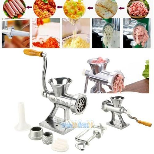 Stainless Steel Cast Iron Manual Meat Grinder Table Home Han