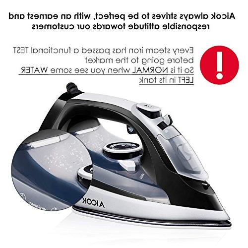 AICOK 1400W Non-Stick Soleplate Iron, Variable Temperature and Steam Anti-Drip,