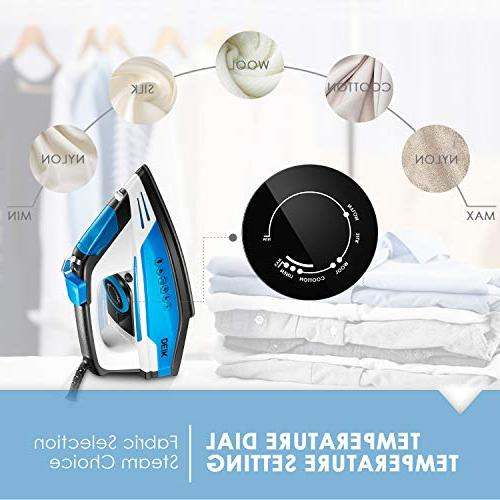 Deik Iron, Multi-Function Steam Iron, Soleplate, Self-Cleaning Function, Steam, Anti-drip System, Temperature and Blue/Black