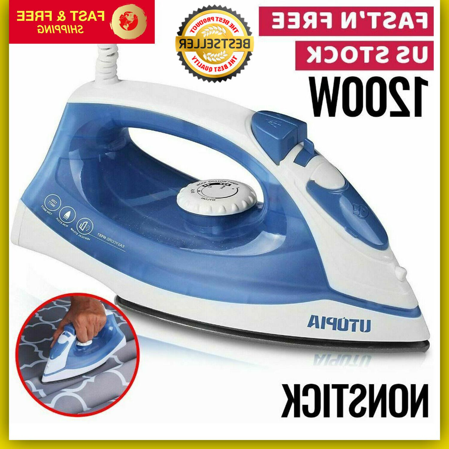 steam iron clothes travel electric press garment