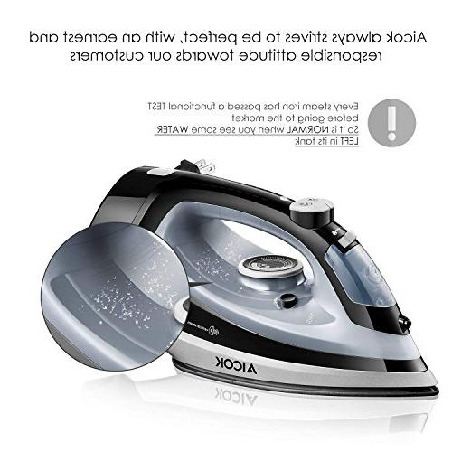 Aicok Professional Retractable and Steam Soleplate Full Iron,