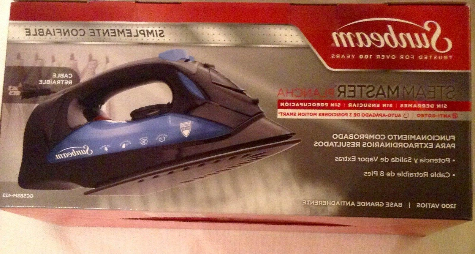 steam master iron w retractable cord black