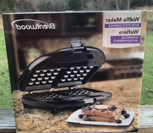ts 243 black stainless steel waffle maker