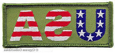 USA EMBROIDERED IRON-ON PATCH AMERICAN FLAG PATRIOTIC AMERIC