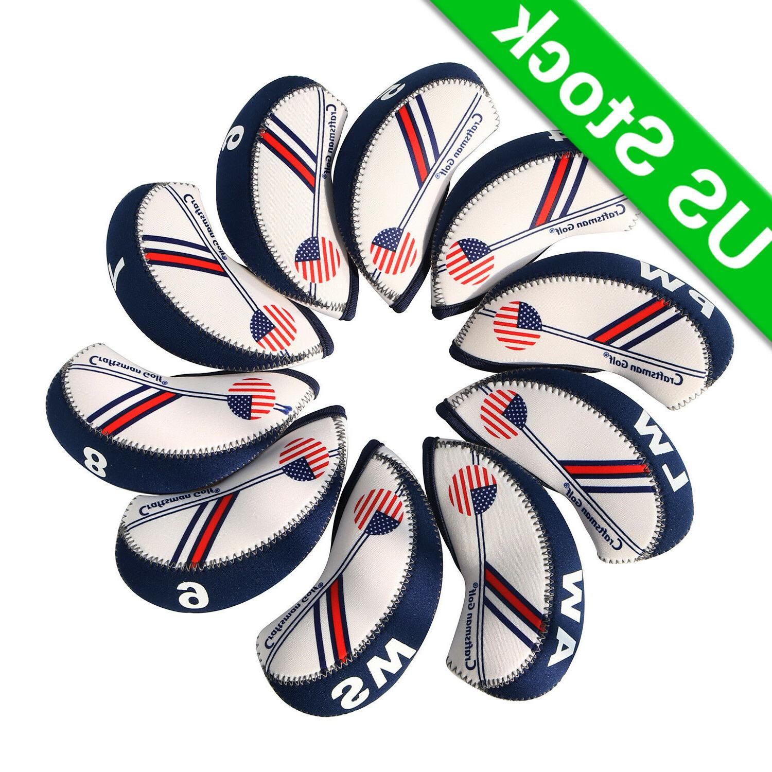 usa flag golf iron head covers headcovers