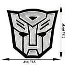 White Autobot Transformers Movie Motorcycle Applique Iron on