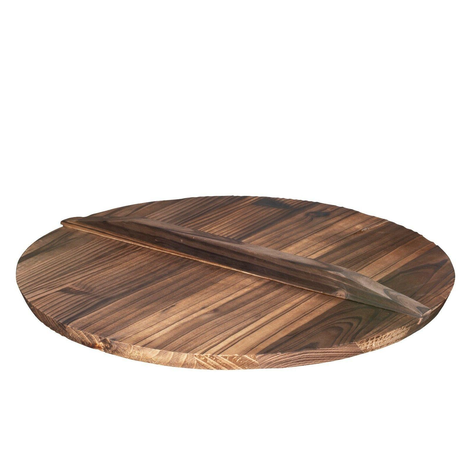 wooden lid for 14 cast iron wok