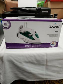 RIVAL Lightweight IRON Adjustable Temp Steam & Dry Option Co