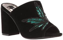 Iron Fist Women's Mary Jane Heel Mule, Black, 5 M US