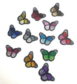 Monarch Butterfly Mini Small Embroidered Patch, Iron-On/Sew-