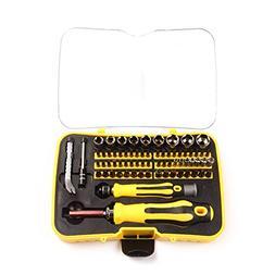 MPLUS 70 Piece Precision Screwdriver Set with 65 Bit Magneti