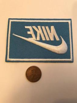 """Nike Blue iron on PATCH -  patches new  Appx 3"""" x 2"""" Nice"""
