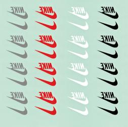 Nike Iron on Vinyl sheet black/red/white/gray 32 Logos