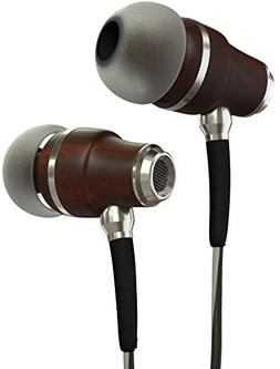 Symphonized NRG 3.0 Earbuds Headphones, Wood In-ear Noise-is