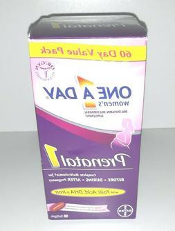 One A Day Women's Prenatal 1 Multivitamins, 60 Count