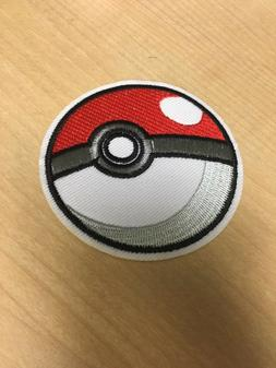 Pokemon Pokeball Embroidered Iron/Sew ON Patch Cloth Appliqu