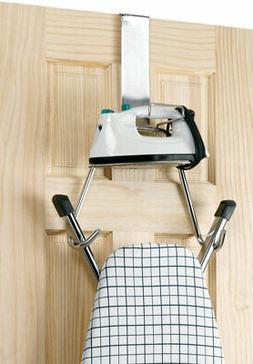 Polder 90617-05 Over The Door Ironing Board Holder, Chrome