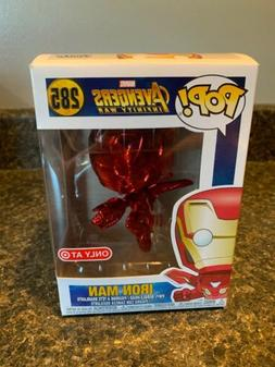 Funko Pop Marvel #285 Iron Man RED Chrome TARGET exclusive a