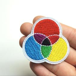 Primary & Secondary Color Wheel Model Patch, Iron-On/Sew-On