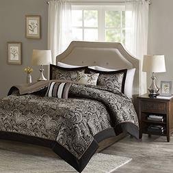 Queen Comforter Set - 5-Piece - Charlize Jacquard Comforter