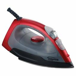 red nonstick steam iron 1000w
