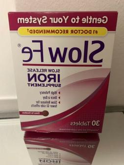 Slow Fe Slow Release Iron, Tablets, 30 ea