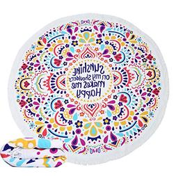KING DO WAY Round Mandala Tapestry Soft Super Water Absorben