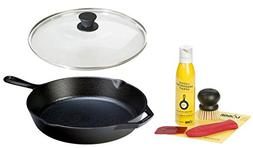 Lodge Seasoned Cast Iron Cookware Set - 12 Inch Cast Iron Sk