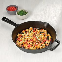 Artisanal Kitchen Supply 12-Inch Pre-Seasoned Cast Iron Skil