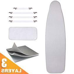 Sunkloof Silicone Coating Ironing Board Cover and Pad Resist