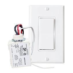 RunLessWire Simple Wireless Switch Kit, Self-Powered Rocker