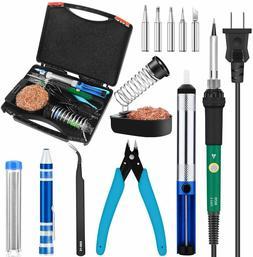 Soldering Iron Kit Electronics, 60W Adjustable Temperature W