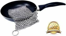 stainless steel cast iron cleaner chainmail scrubber