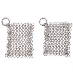 StainlessSteel Cast Iron Cleaner Chainmail Scrubber Home Coo