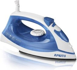 steam clothes home iron nonstick soleplate small