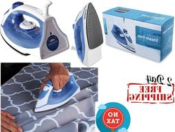 Steam Iron with Nonstick Soleplate - Small Size Light Weight