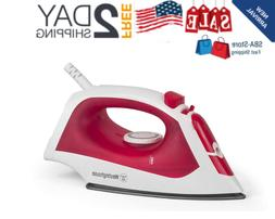 Steam Iron with 5.1 Ounce Water Tank 1200 Watts White with R