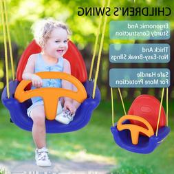 Sturdy Baby Toddler Swing Set Portable Kids Indoor Yard Outd