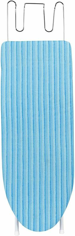 Tabletop Ironing Board with Retractable Iron Rest in Aqua Bl