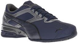 PUMA Men's Tazon 6 FM Sneaker, Peacoat-Iron gate Black, 11 M