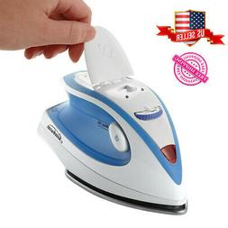 Travel Iron Compact Portable Steam NonStick  Heat Setting Du