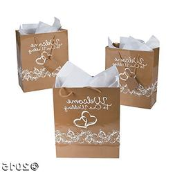 """Two Hearts""""Welcome To Our Wedding""""Gift Bags"""