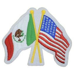 USA and Mexico Flags Patch