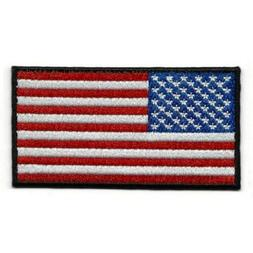 """USA FLAG IRON ON PATCH 3"""" United States America Embroidered"""