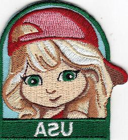 """""""USA"""" GIRL Iron On Patch"""