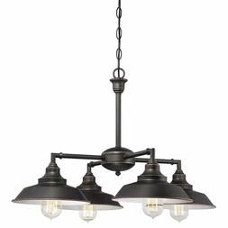 Vintage Four-Light Indoor Convertible Chandelier Iron Hill H