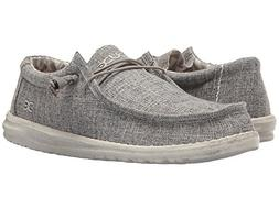 Hey Dude Mens Wally Linen Loafer, Iron, Size 12